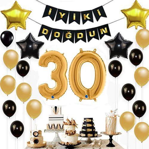 30 Yaş Doğum Günü Süsleri Seti, fiyatı