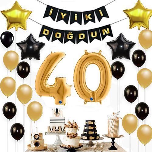 40 Yaş Doğum Günü Süsleri Seti, fiyatı