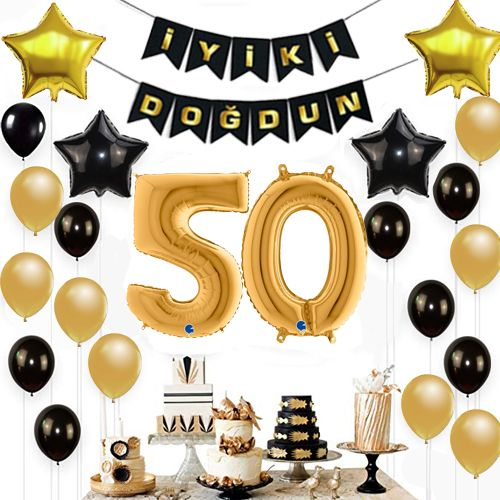 50 Yaş Doğum Günü Süsleri Seti, fiyatı