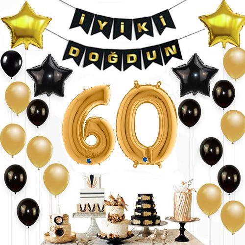 60 Yaş Doğum Günü Süsleri Seti, fiyatı