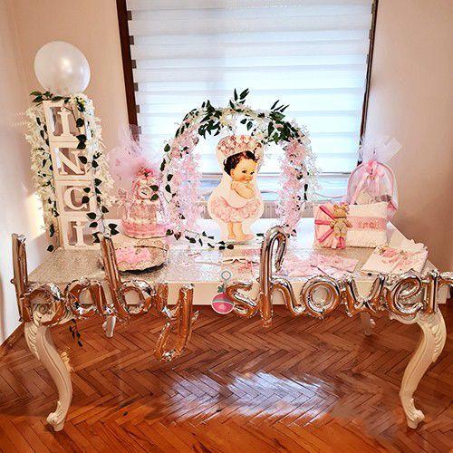 Baby Shower Folyo Balon Gümüş 210x44 cm, fiyatı