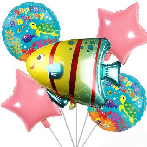 Okyanus Temalı Folyo Balon Set 5li, fiyatı