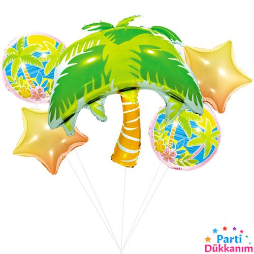 Tropikal Folyo Balon Set (5 adet), fiyatı