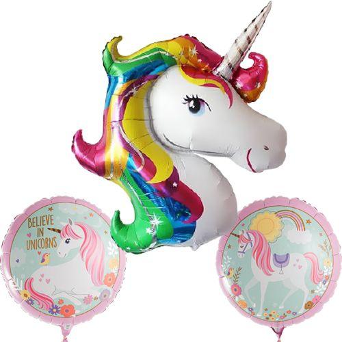 Unicorn (Boynuzlu At) Folyo Balon Seti (3 adet), fiyatı