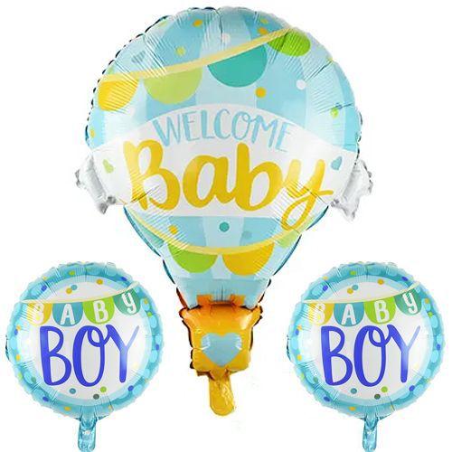 Welcome Baby Folyo Balon Set Mavi 3 Adet, fiyatı