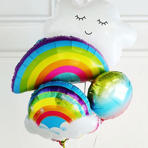 Kirpikli Bulut Folyo Balon 75x55 cm, fiyatı