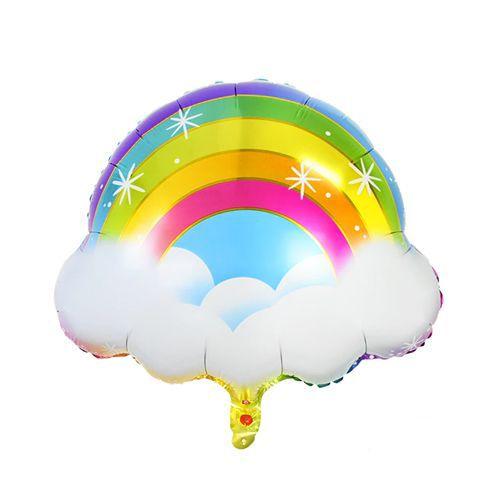 Bulutlu Gökkuşağı Folyo Balon 57x50 cm, fiyatı