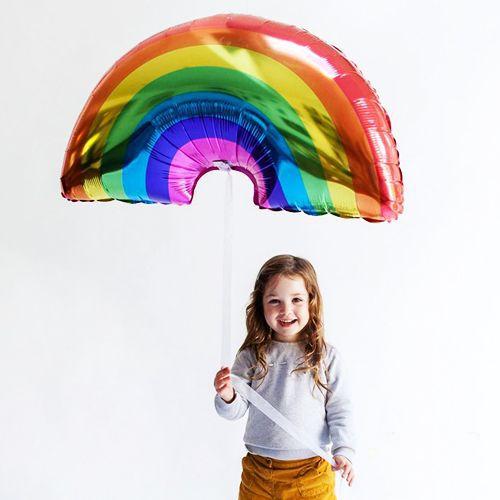 Gökkuşağı Folyo Balon 89x50 cm, fiyatı