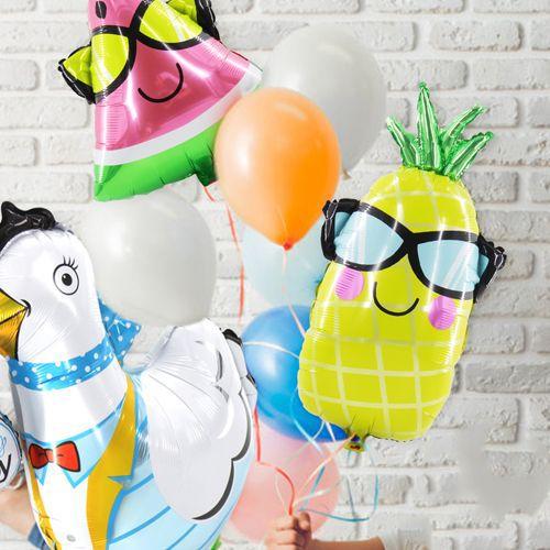 Gözlüklü Ananas Folyo Balon 65x41 cm, fiyatı