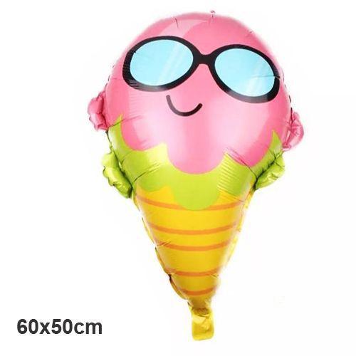 Gözlüklü Dondurma Folyo Balon 60x50 cm, fiyatı
