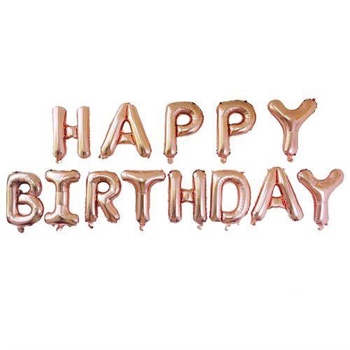 Happy Birthday Folyo Balon Rose Gold 35 cm, fiyatı