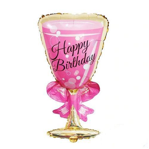 Happy Birthday Kadeh Folyo Balon 95x45 cm, fiyatı