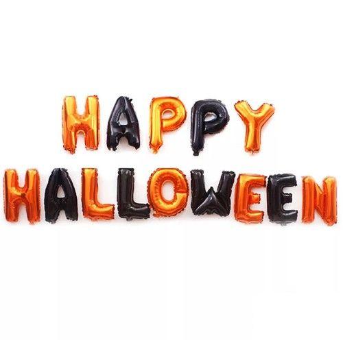 Happy Halloween Folyo Balon Yazısı Set 40 cm, fiyatı