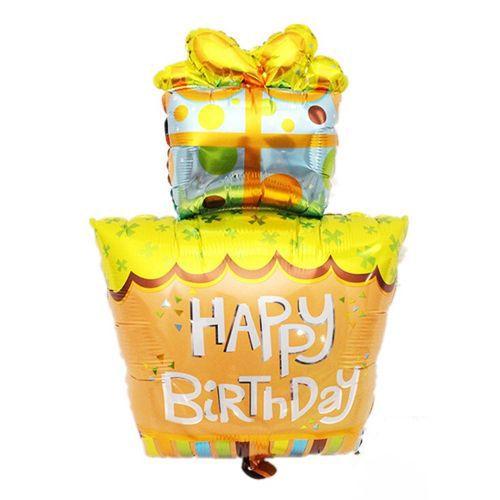 Happy Birthday Katlı Pasta Folyo Balon 45x65cm, fiyatı