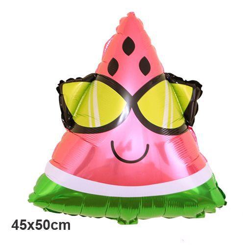 Gözlüklü Karpuz Folyo Balon 50x45 cm, fiyatı