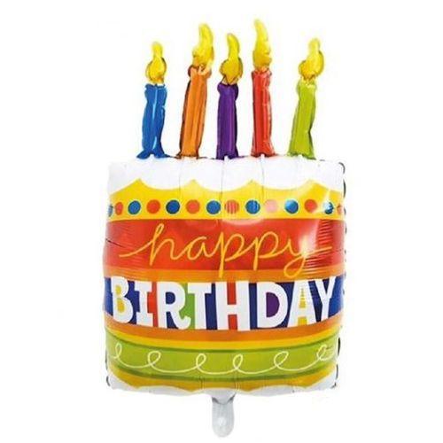 Happy Birthday Mumlu Pasta Folyo Balon 73x53 cm, fiyatı