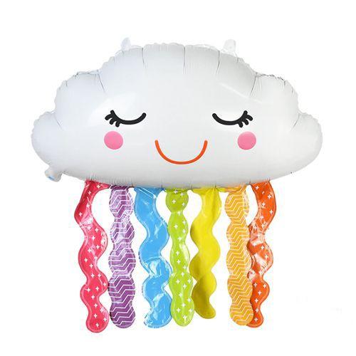 Püsküllü Bulut Folyo Balon 73x46 cm, fiyatı