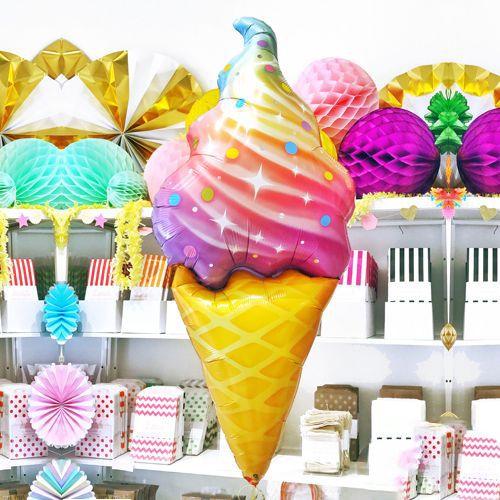 Rengarenk Dondurma Folyo Balon 110x50 cm, fiyatı