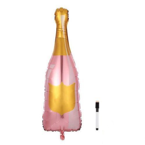 Şampanya Şişesi Folyo Balon Kalemli 92x38 cm, fiyatı