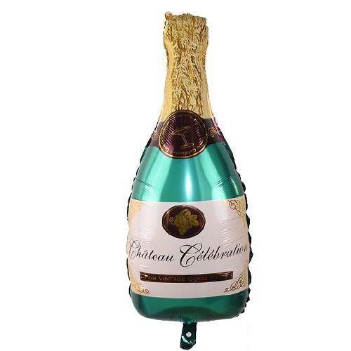 Şampanya Şişesi Folyo Balon Yeşil 92x48 cm, fiyatı