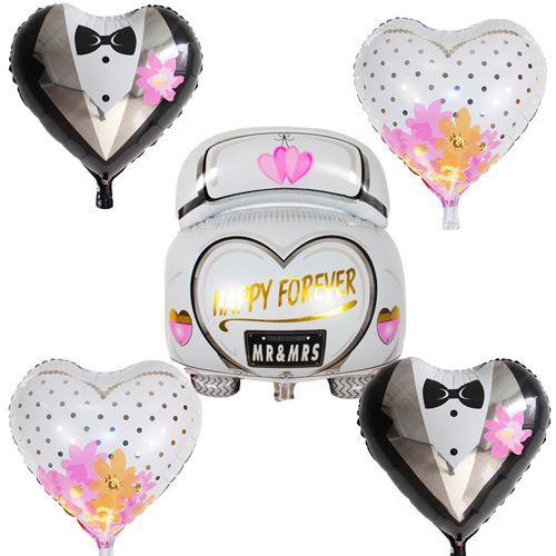 Düğün Arabası Folyo Balon 5'li Set, fiyatı