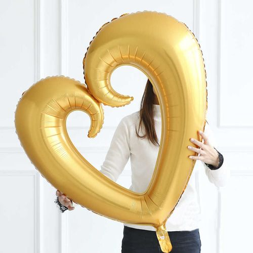 Kalp Folyo Balon Gold (80x75 cm), fiyatı