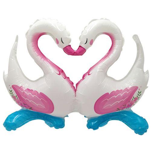 Kuğu Folyo Balon Pembe 2'li (98x120 cm), fiyatı