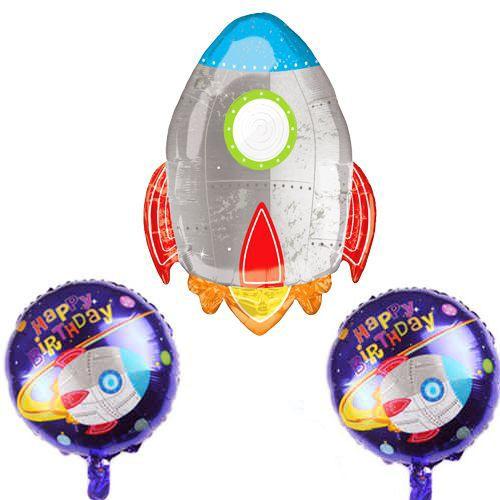 Roket Folyo Balon 3'lü Set, fiyatı