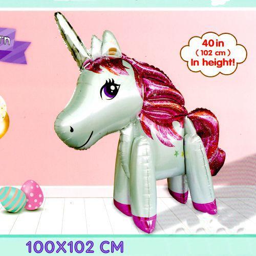 Unicorn Ayaklı Folyo Balon Büyük (100x102 cm), fiyatı