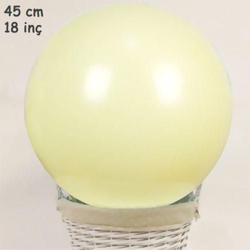 18 İnch 45 cm Makaron Balon Sarı, fiyatı