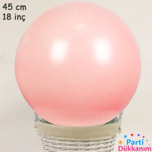 18 İnch 45 cm Makaron Balon Şeftali Rengi, fiyatı