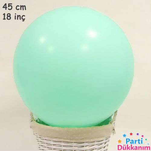 18 İnch 45 cm Makaron Balon Mint Yeşili, fiyatı