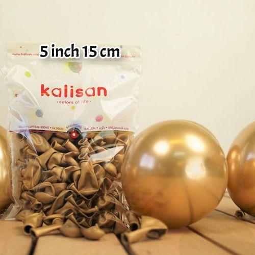 5 İnch Mini Gold Krom Balon 10 Adet, fiyatı