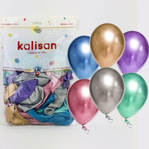 Karışık Renkli Krom Balon 50 Adet (30 cm), fiyatı