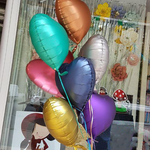 Krom Kalp Folyo Balonlar (45 cm), fiyatı
