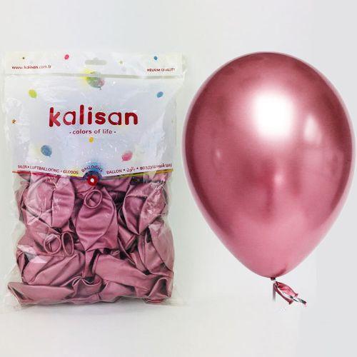 Pembe Krom Balon 50 Adet (30 cm), fiyatı
