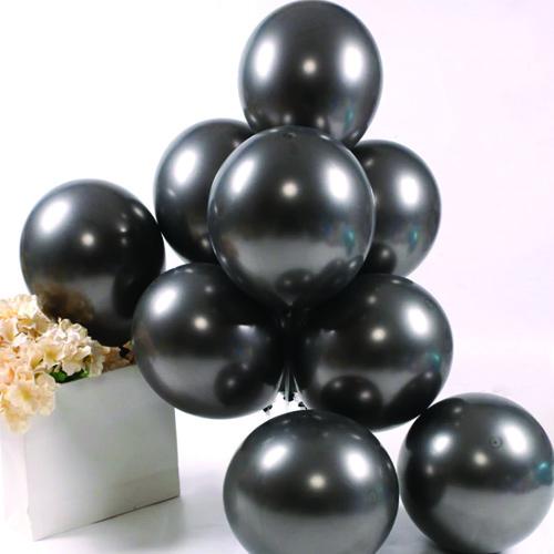 Siyah Krom Balon 5 Adet (30 cm), fiyatı