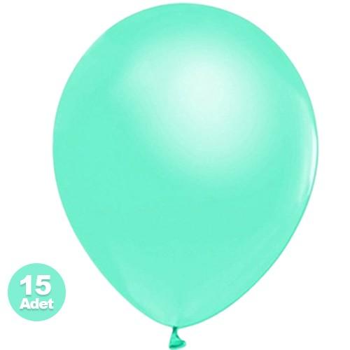 Su Yeşili Metalik Balon 15 Adet, fiyatı