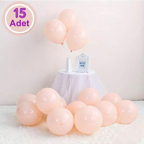 Makaron Balon Somon Rengi 15 Adet, fiyatı