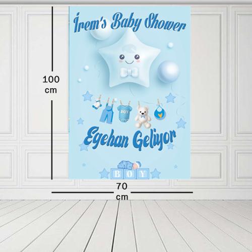 Baby Shower Parti Afişi 70*100 cm, fiyatı