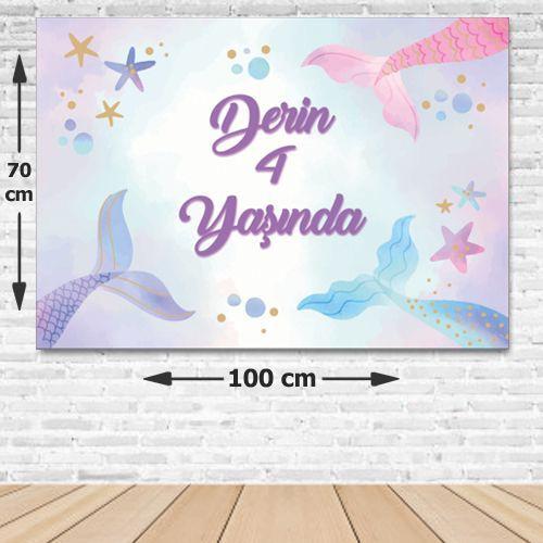 Deniz Kızı Doğum Günü Afişi Resimsiz 70*100 cm, fiyatı