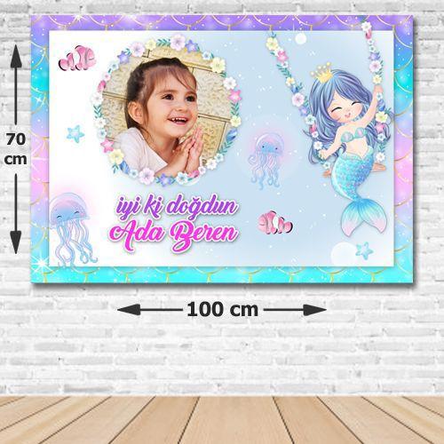 Deniz Kızı Little Doğum Günü Afişi 70*100 cm, fiyatı