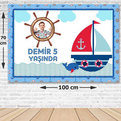 Denizci Temalı Doğum Günü Parti Afişi 70x100 cm, fiyatı