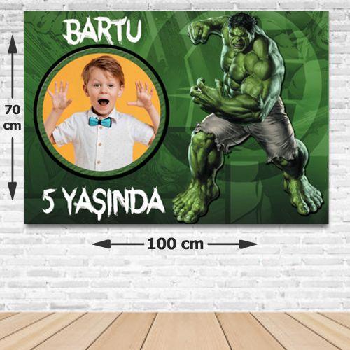 Hulk Kişiye Özel Doğum Günü Parti Afişi 70*100 cm, fiyatı