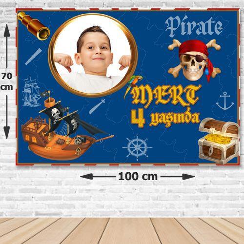 Korsan Temalı Doğum Günü Parti Afişi 70x100 cm, fiyatı
