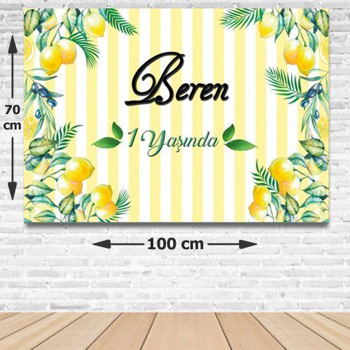 Limon Doğum Günü Parti Afişi 70*100 cm, fiyatı
