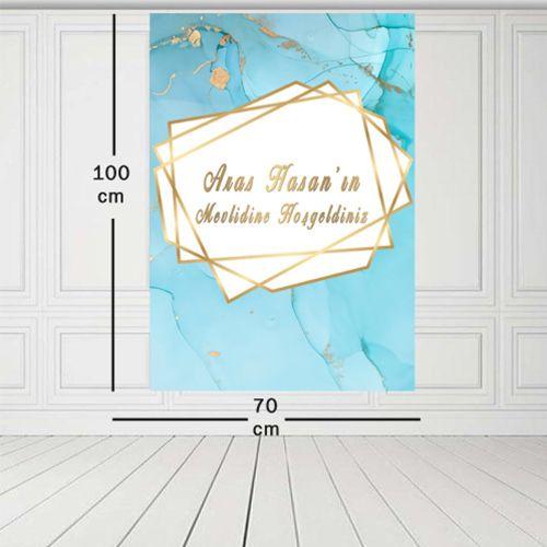 Mevlid Afişi Mermer Desenli 70*100 cm, fiyatı