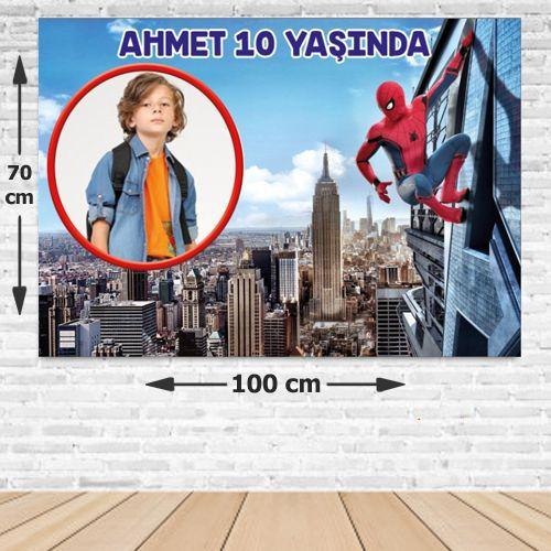 Spiderman Doğum Günü Afişi 70*100 cm, fiyatı