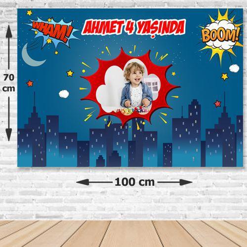 Superhero Comics Erkek Doğum Günü Parti Afişi 70x100 cm, fiyatı