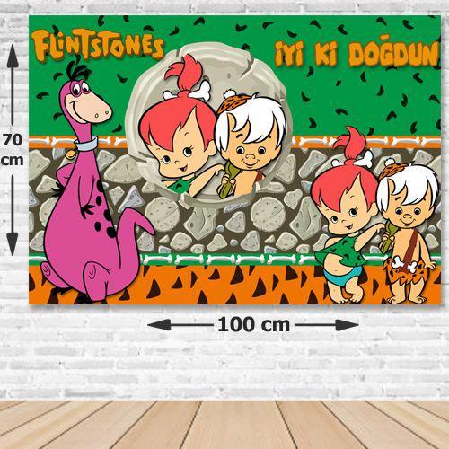 Taş Devri Çakıltaş/Bambam Doğum Günü Parti Afişi 70x100 cm, fiyatı